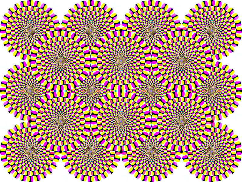 Rotating Circles Illusion